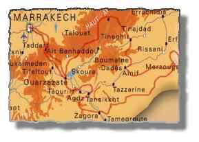 Enduro Marokko Tourmap